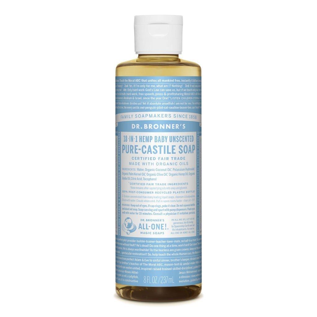 Dr  Bronner's Pure-Castile Liquid Soap - Unscented Mild - Baby